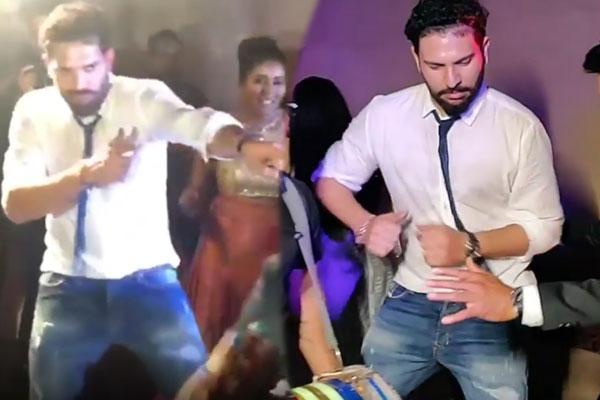 yuvraj bhangra punjabi songs at manish pandey  s wedding
