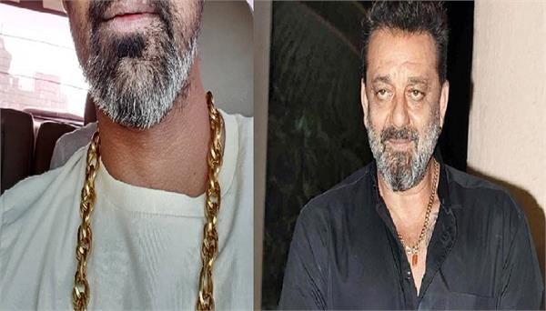 this 33 year old cricketer looks into the look of sanjay dutt