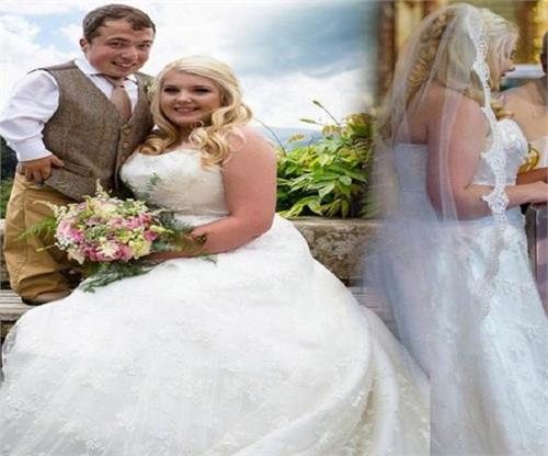 climbed the stool to marry fiance