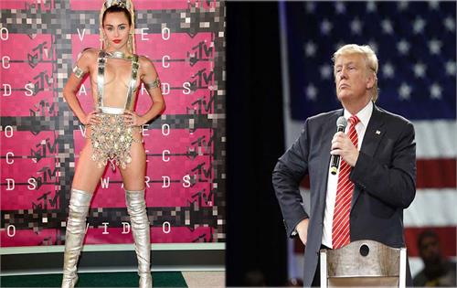miley cyrus called donald trump for his  stupid and sexist