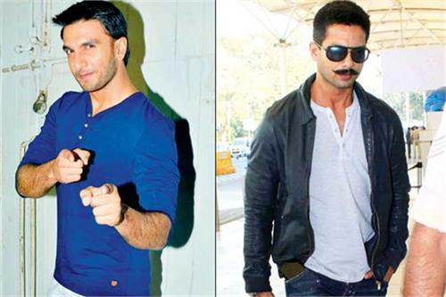 bollywood s new  ram lakhan  shahid kapoor and ranveer singh
