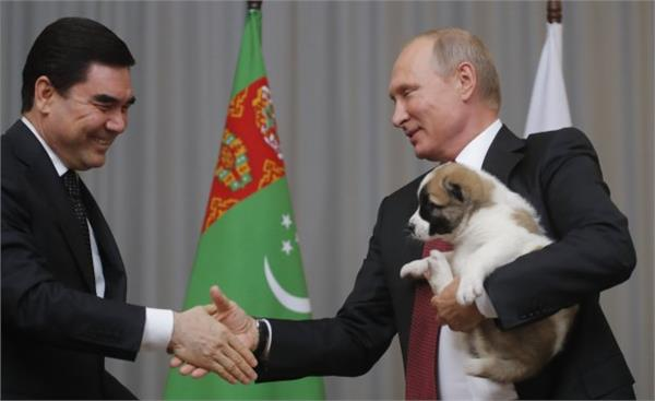 president of turkmenistan russian president birthday a special gift