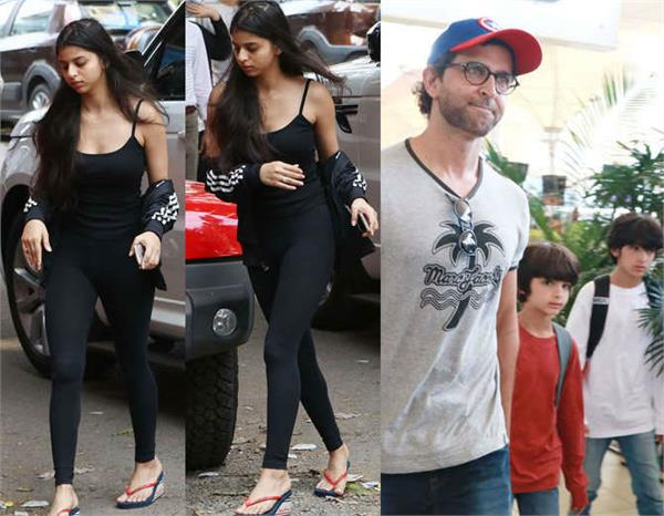 suhana khan to hrithik roshan bollywood celebs and stars kids spotted