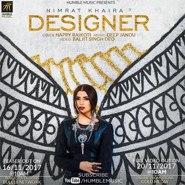 nimrat khaira designer song teaser out now