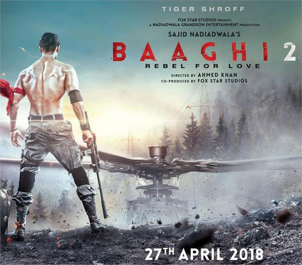 tiger shroff viral look from the movie baaghi 2