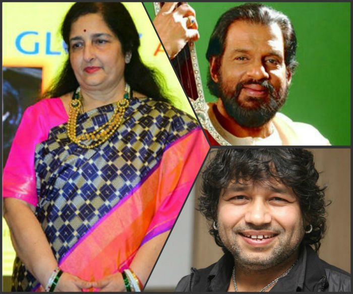 anuradha paudwal ánd kailash kher padma awards for yesudas