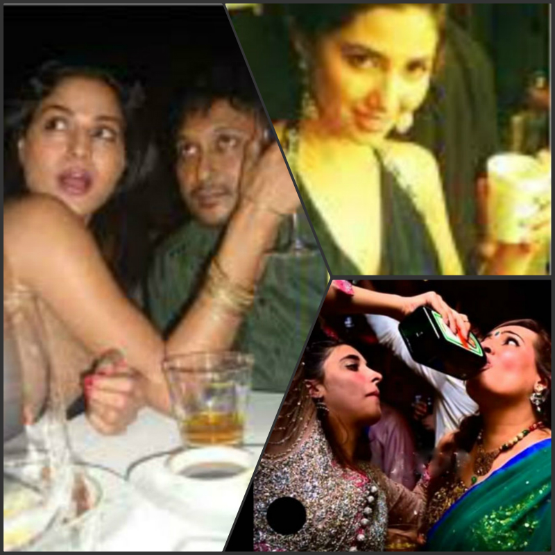 pakistani stars caught drinking smoking