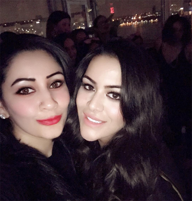 manyata posted a pic with trishala on instagram