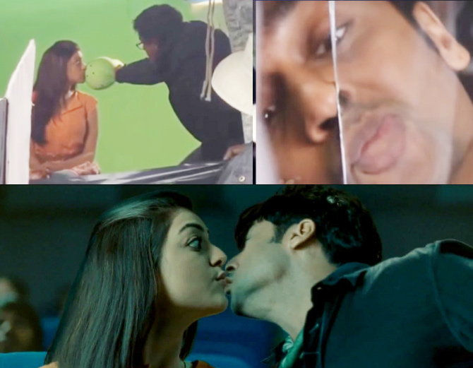 kissing scenes