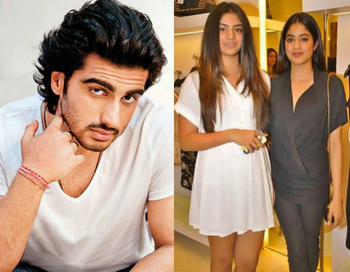 actor arjun kapoor on relationship with jhanvi and khushi