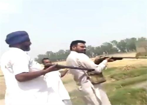 congress councilor malkit singh air firing in fields
