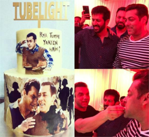 salman khan  kabir khan celebrate the release of their movie