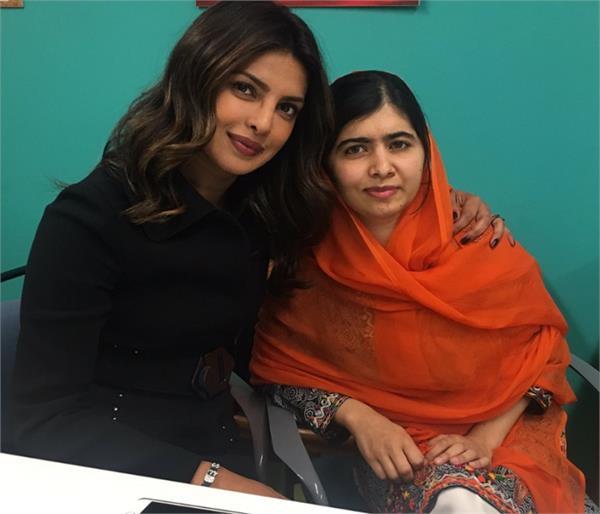 pakistan malala priyanka chopra meet