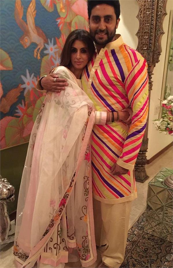 abhishek bachchan and shweta bachchan nanda