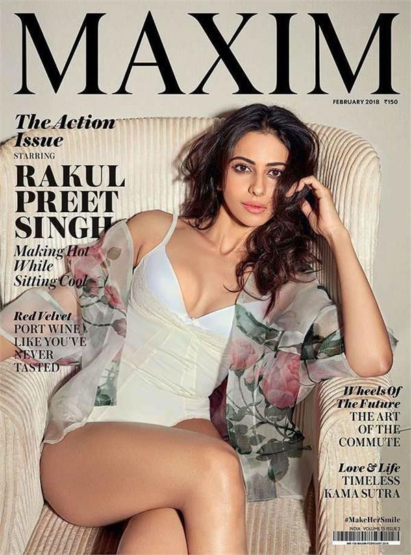 aiyaary actress rakul preet singh  s bold photo shoot for maxim