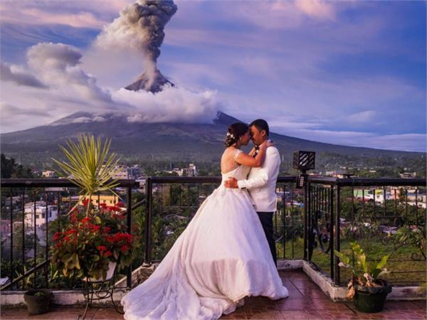 volcanic philippines couple wedding pictures