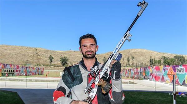 shooting world cup  india win fourth gold  akhil succesfully