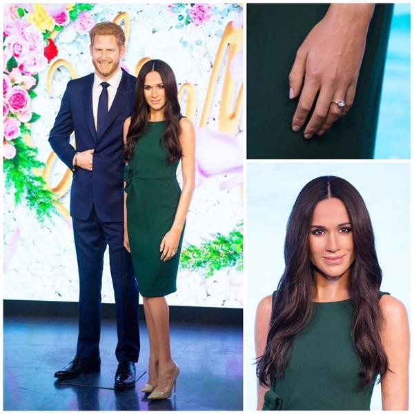 meghan markle wax statues unveiled at madame tussauds