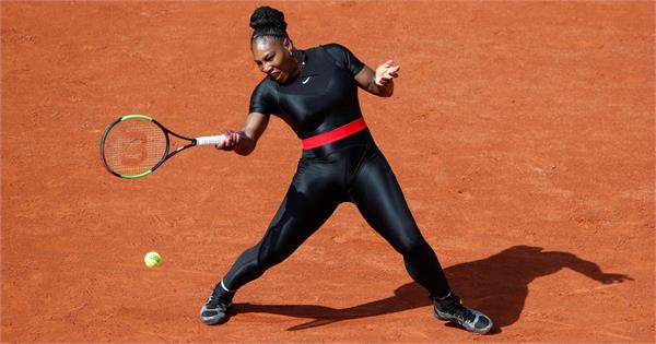 serena will continue to play in   black panther   catsuit