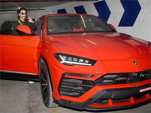 ranveer singh bought rs 3 crore new lamborghini urus