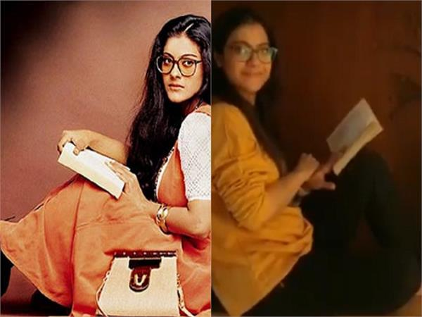 kajol recreates iconic simran pose as dilwale dulhania le jayenge