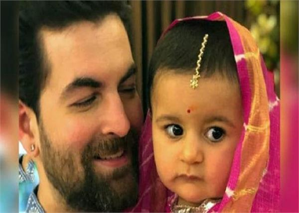 neil nitin mukesh dancing with daughter nurvi shares cute video on social media