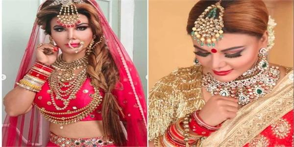 rakhi sawant celebrating her first karva chauth share video and then deleted