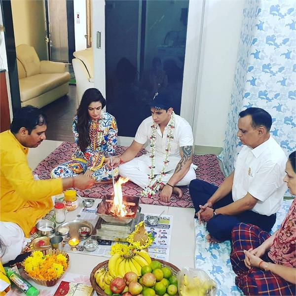 yuvika chaudhary and prince narula 1st marriage anniversary