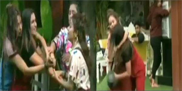 bigg boss 13 shefali bagga devoleena bhattacharjee physical fight