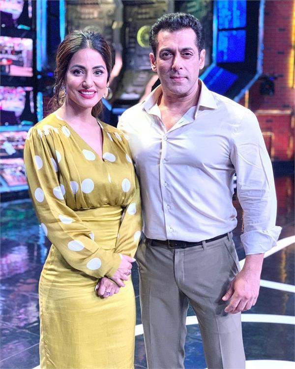 salman khan to reunite with former contestant hina khan for   weekend ka vaar