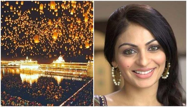 pollywood actress neeru bajwa diwali wishes her fans