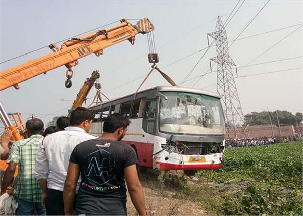 panipat in bus accident