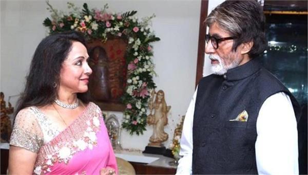kbc 11  amitabh bachchan praises hema malini s  beauty