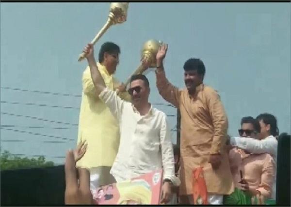 haryana  sunny deol campaigns for om parkash dhankar