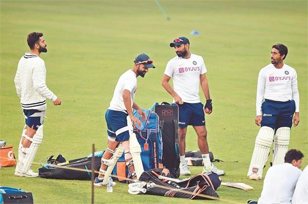 india bangladesh practice with pink ball