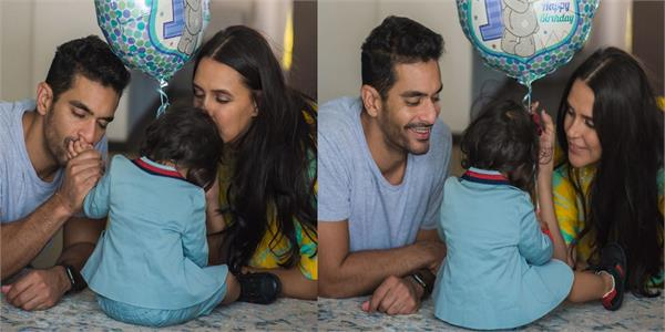 neha dhupia  angad bedi celebrate daughter mehr s first birthday