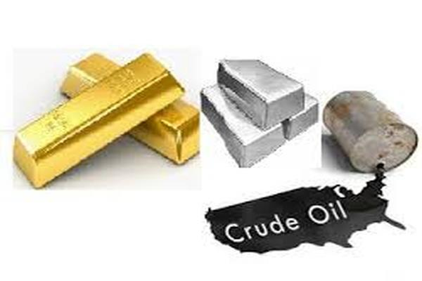 crude oil weakens  gold shines