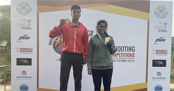 manavaditya anushka to win trap mixed team title