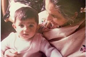 pollywood actress monica gill shared her childhood pics