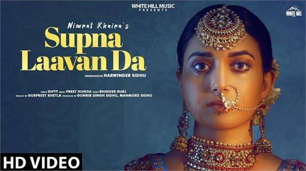 nimrat khaira presents broken heart through song supna laavan da