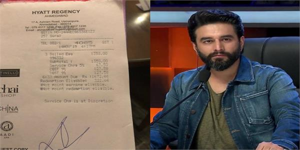 shekhar ravjianii orders three egg whites  billed rs 1 672