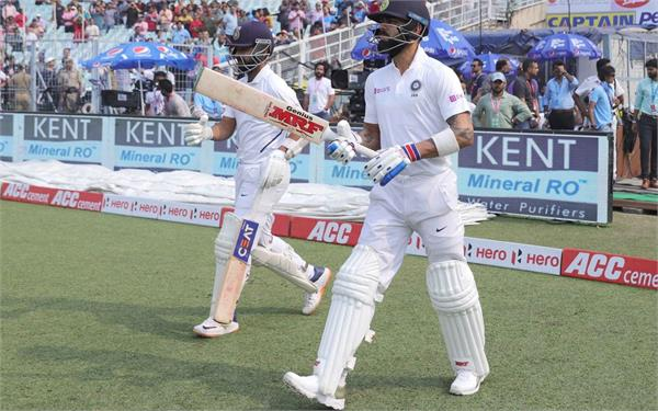 kohli rahane achieve another partnership feat in test cricket vs bangladesh