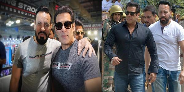 salman khan shares pic with bodyguard shera