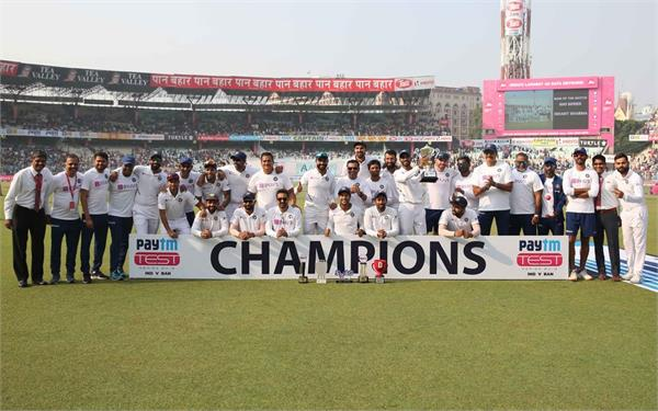 india wins 4 consecutive test by innings and become 1st team in test cricket