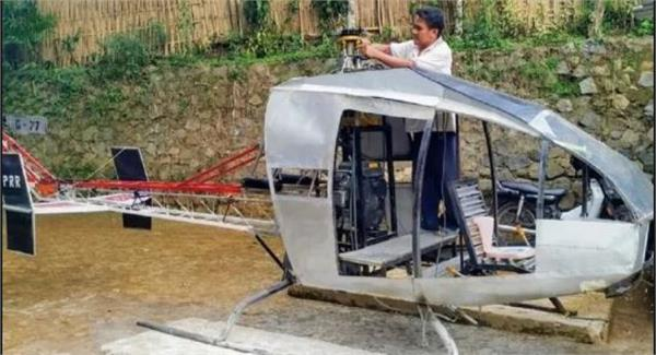 helicopter made by a person for traffic jams