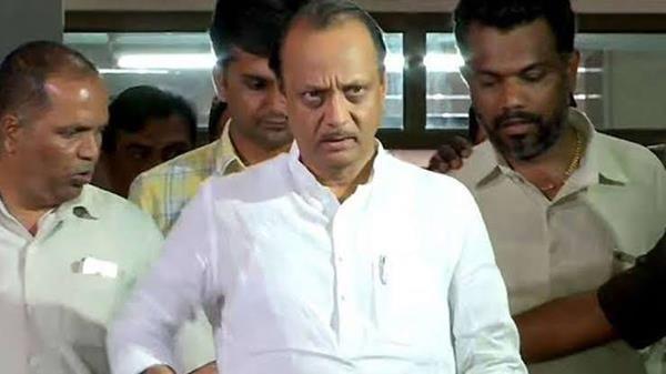 ajit pawar returns home