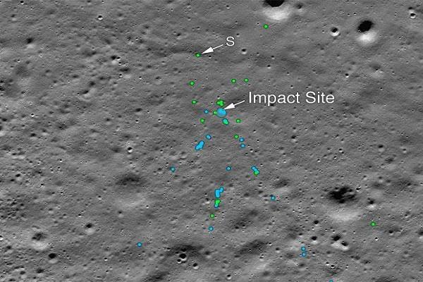 nasa satellite finds debris of chandrayaan 2 lander vikram