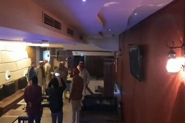 police raid at restaurant