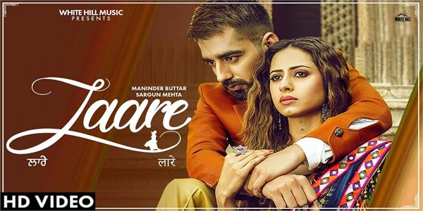 maninder buttar and sargun mehta romantic chemistry in laare song