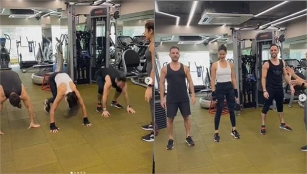 katrina kaif gym work out video shared on instagram account